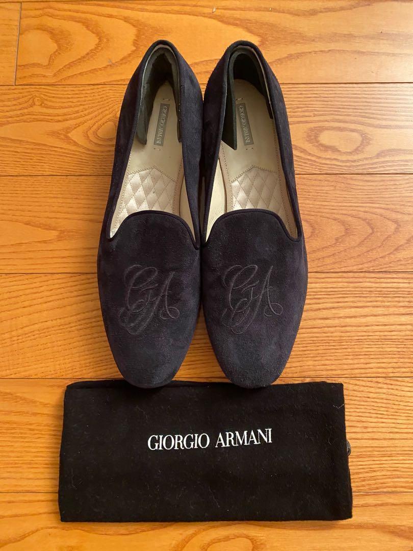 Authentic Giorgio Armani Suede loafers