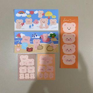 assorted bear stickers