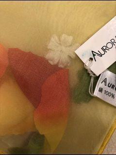 Aurora絹100%絲巾 170cm*51cm