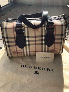 Authentic Burberry Haymarket Check Satchel Purse