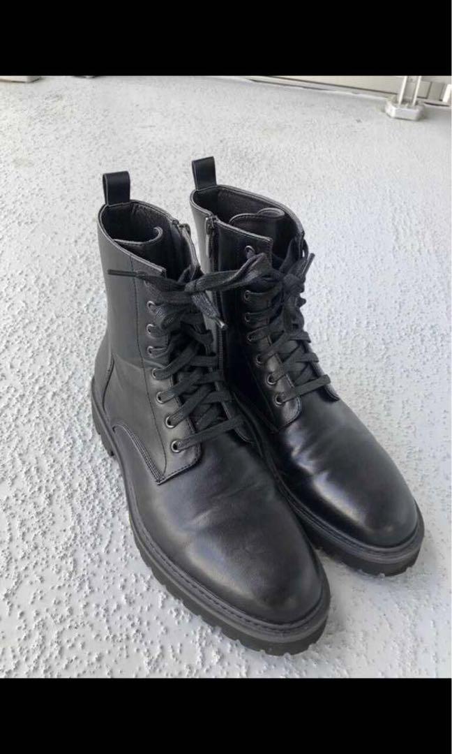 Black Brown men's boots