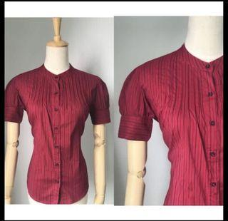 Branded Red Work Top