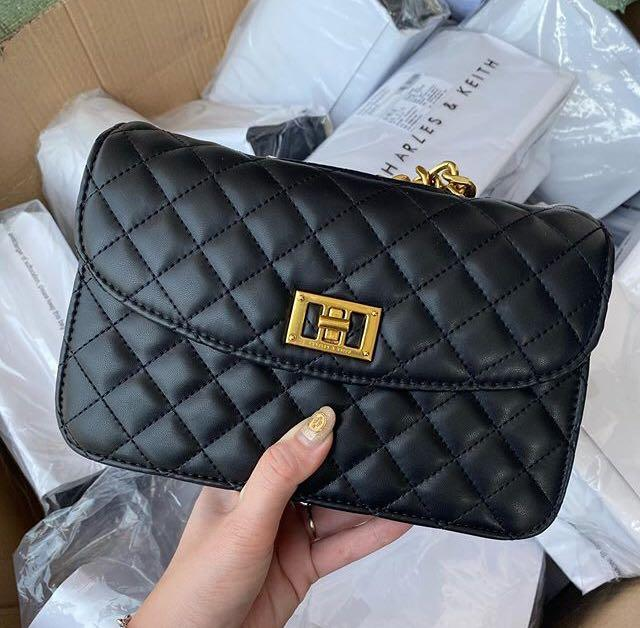 Charles and Keith Turn Lock Quilted
