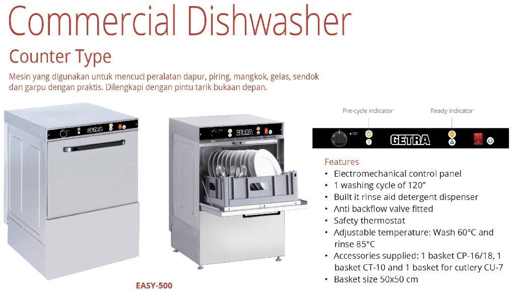COMMERCIAL DISHWASHER (EASY-500)