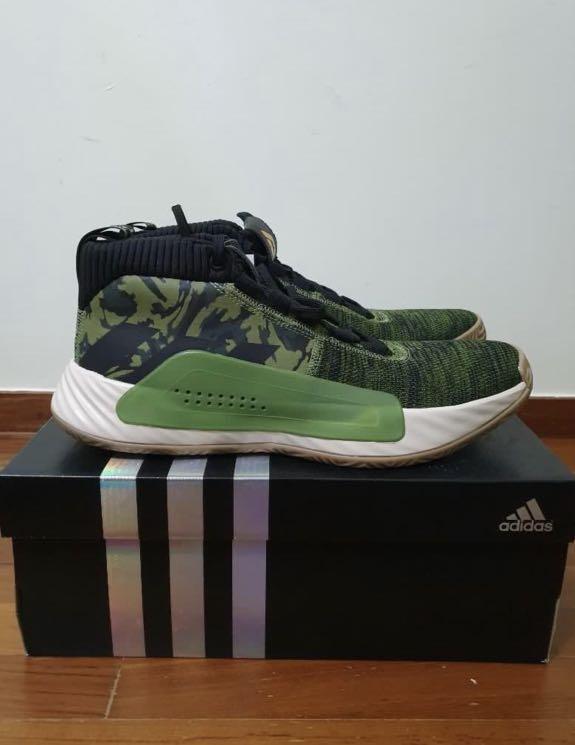 Adidas Dame 5 Green Camo , Men's