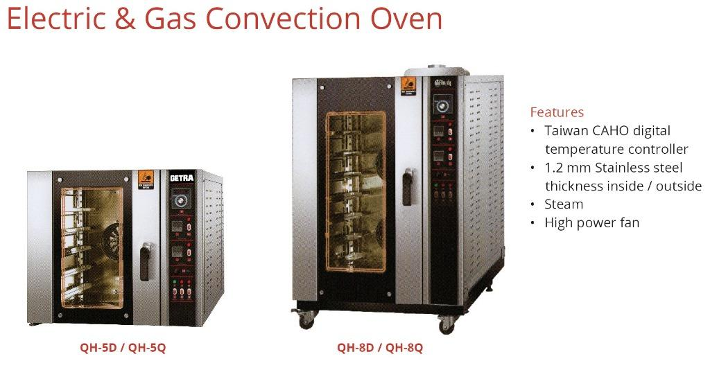 ELECTRIC & GAS CONVECTION OVEN (QH-8D)