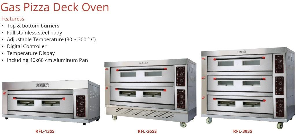 GAS PIZZA DECK OVEN (RFL-39SS)