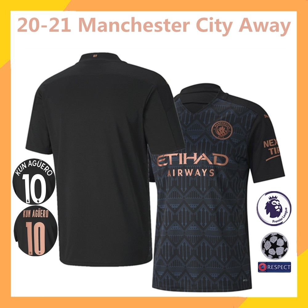 Manchester City Away Kit 20 21 Football Jersey Sports Sports Apparel On Carousell