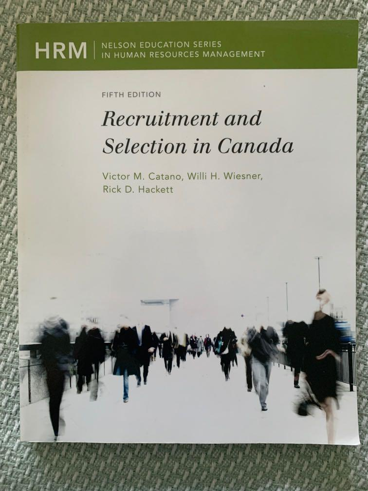 MHR623 - Recruitment and Selection in Canada