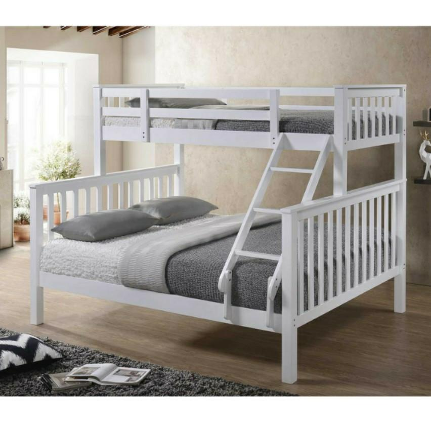 Separable Queen Single Bunk Bed Double Decker Bed Furniture Beds Mattresses On Carousell