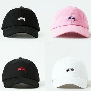 全新翻玩stussy粉色刺繡老帽棒球帽帽子