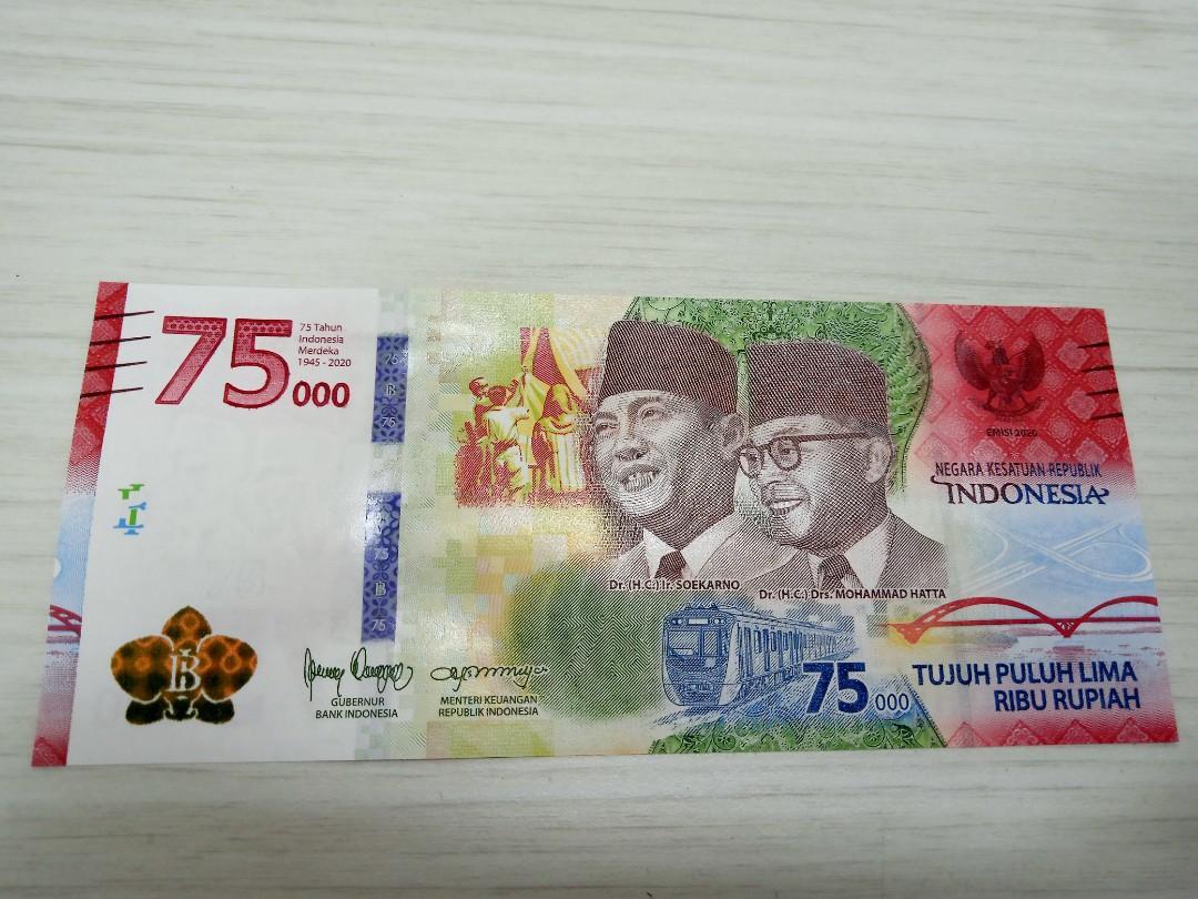 UPK Uang peringatan kemerdekaan 75th 75000