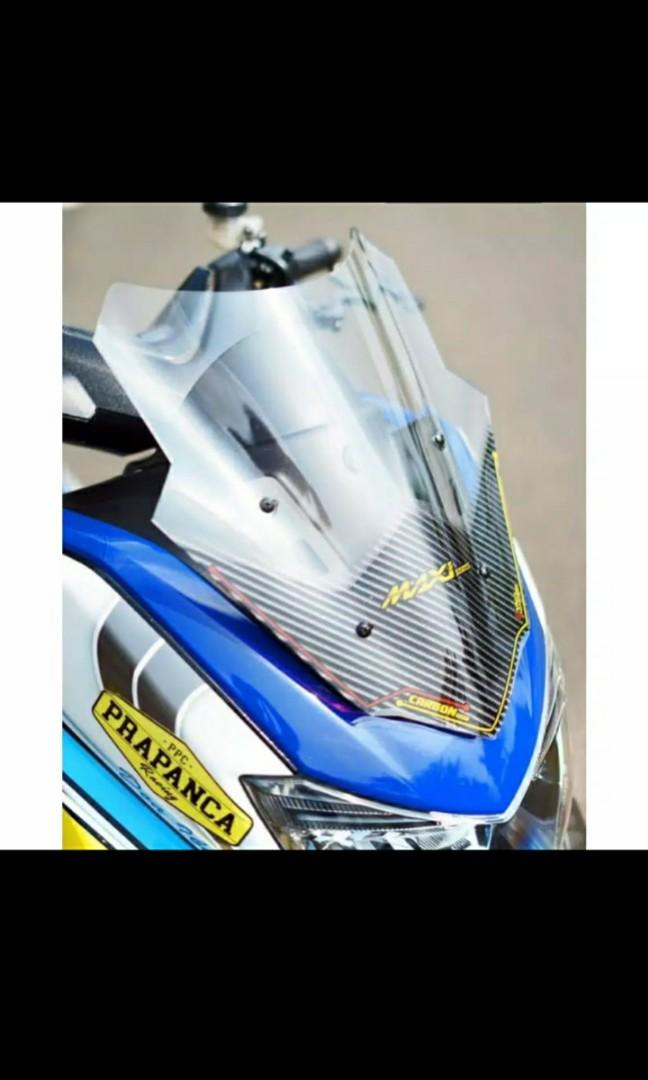 Windshield carbon setengah ( new NMAX