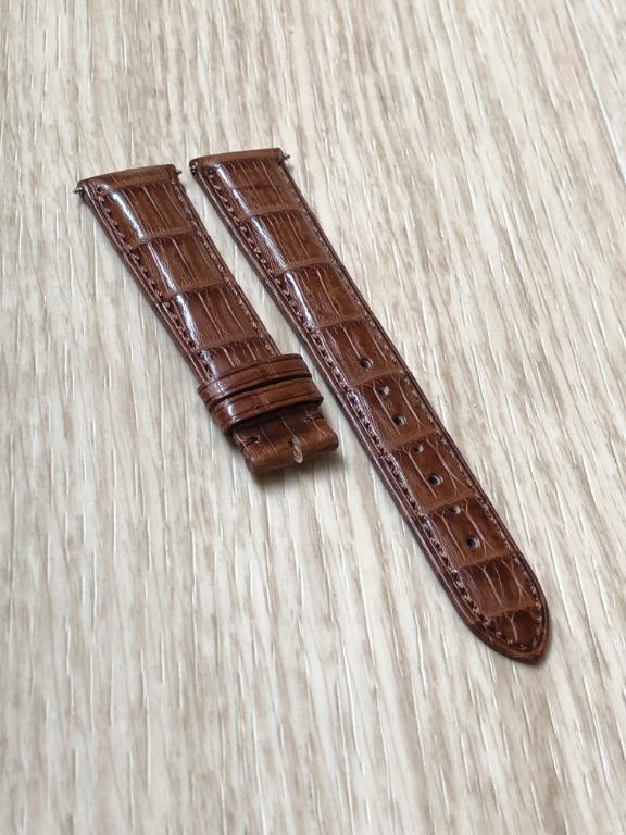 21mm Brown Alligator/Crocodile Leather Watch Strap
