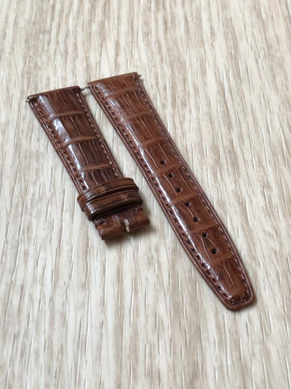 22mm Brown Alligator/Crocodile Leather Watch Strap