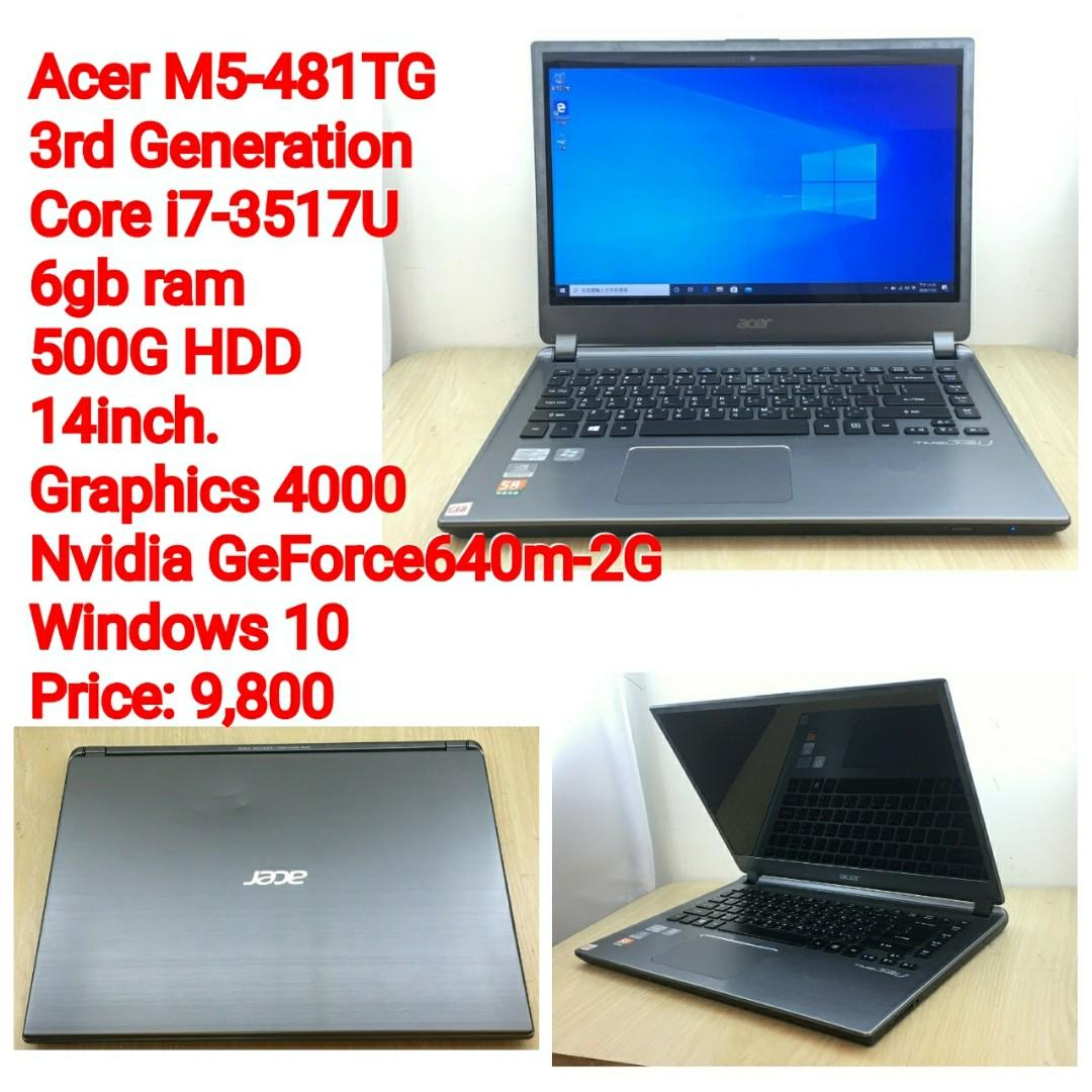Acer M5-481TG 3rd Generation Core i7-3517U 6gb