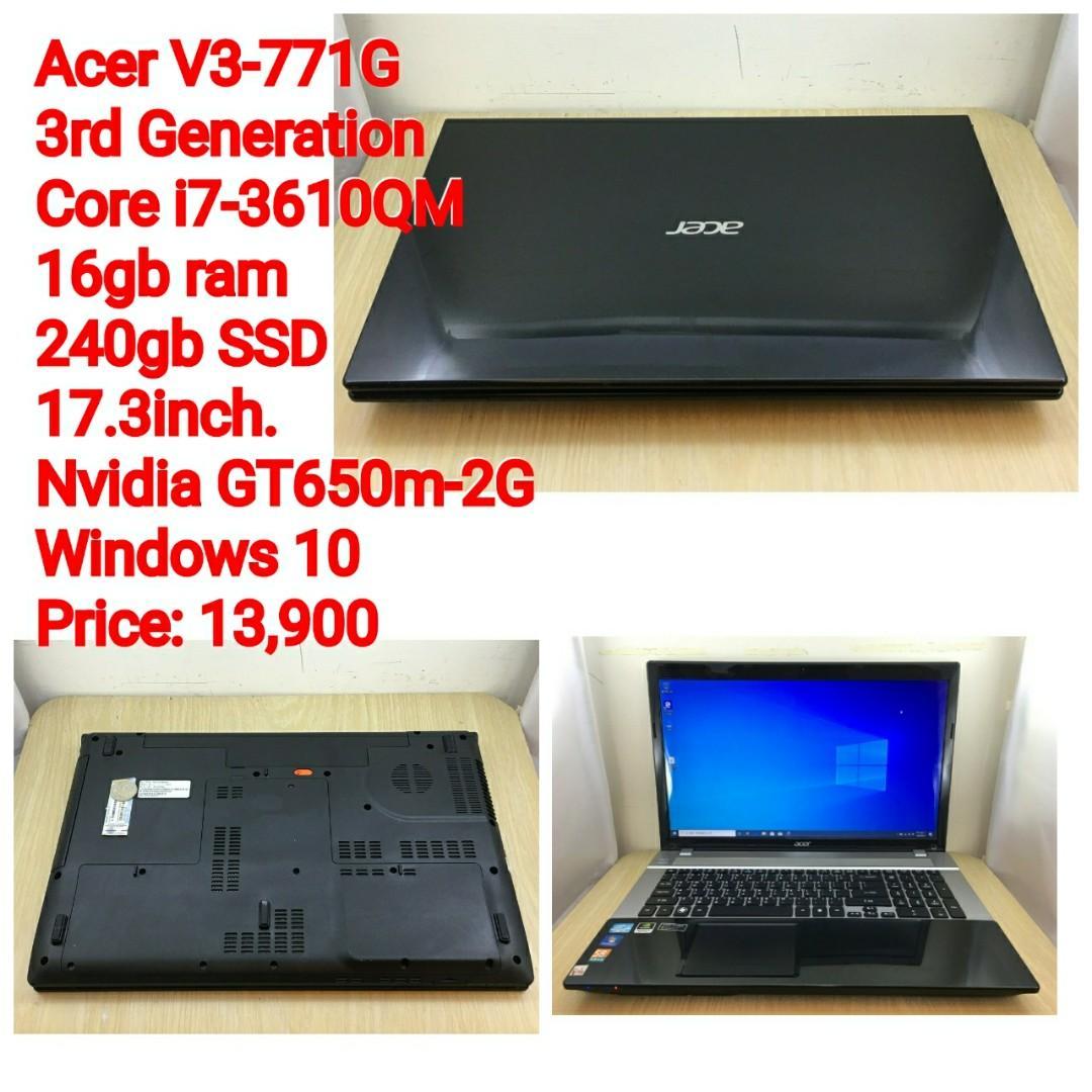 Acer V3-771G 3rd Generation Core i7-3610QM 16gb