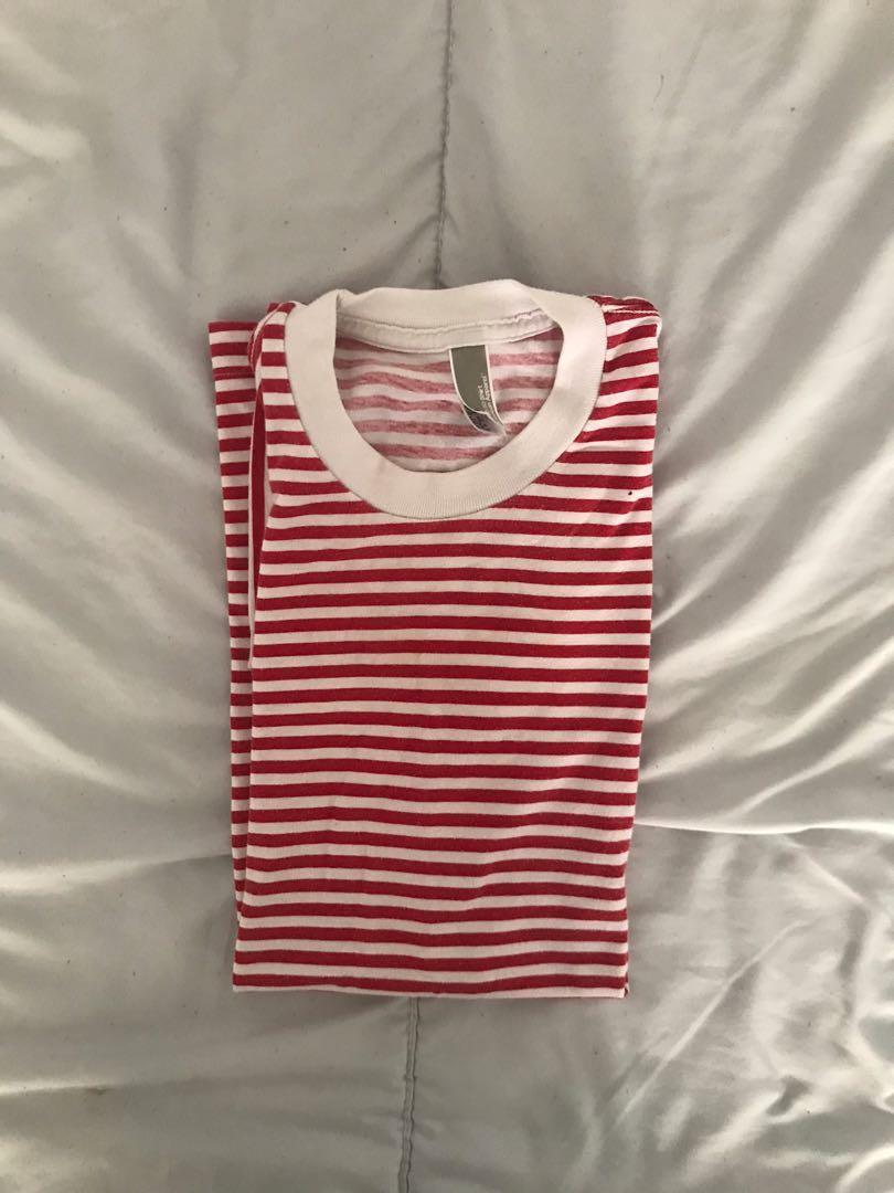American apparel striped tee