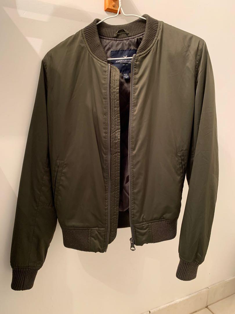 American Eagle Army Green Bomber Jacket