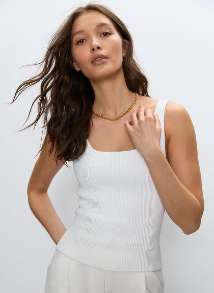 ARITZIA BABATON SCULPT KNIT LONG TANK
