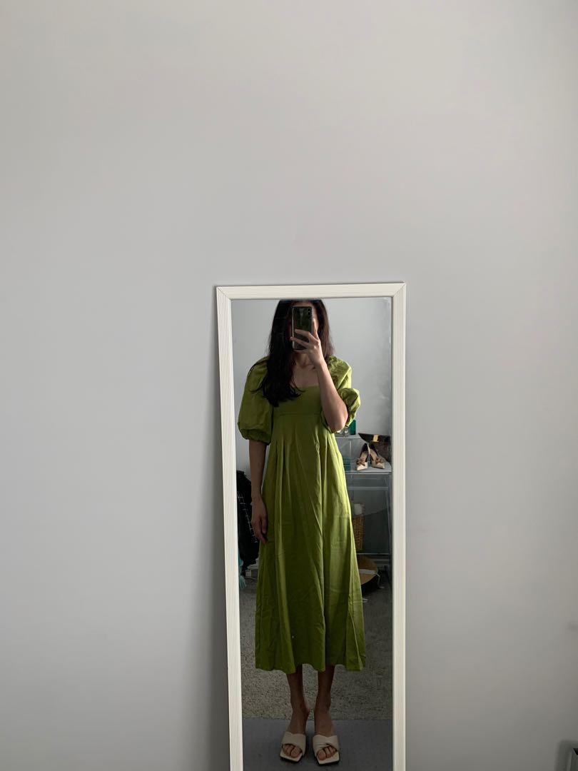 Avocado green dress
