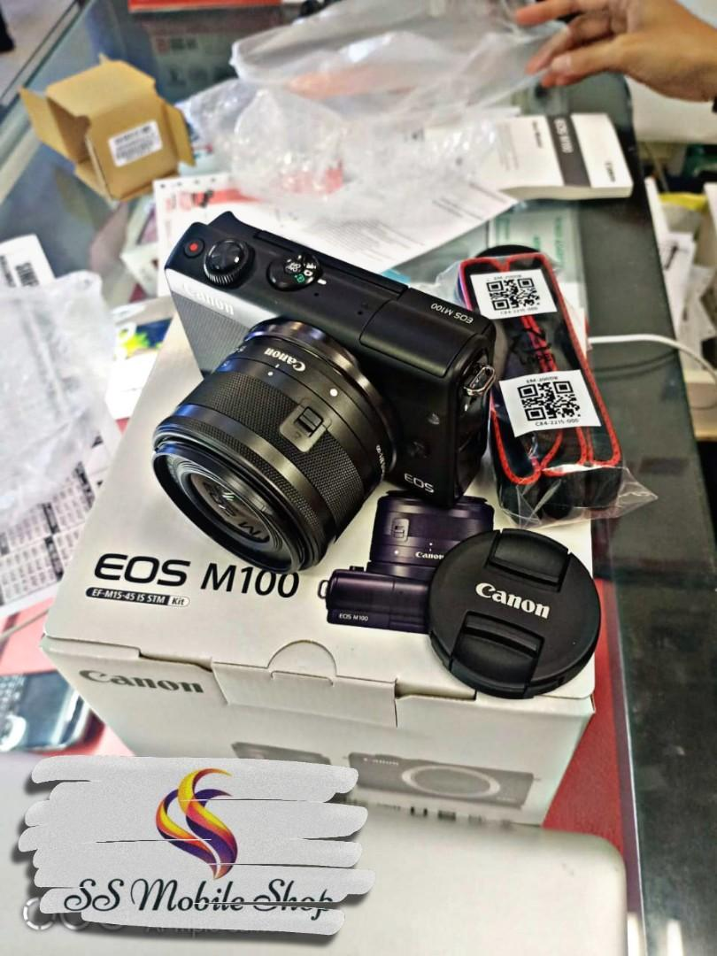 Canon EOS M100 Kit 15-45mm Resmi Cicil Dp Murah