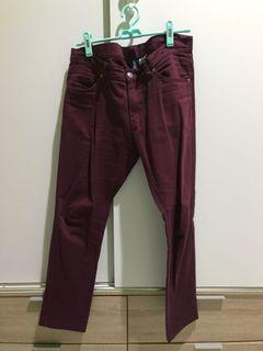 Colored jeans HnM maroon size 32
