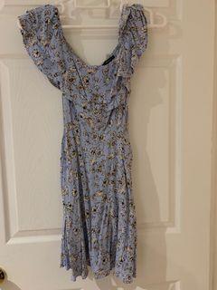 F21 Off-shoulder floral dress