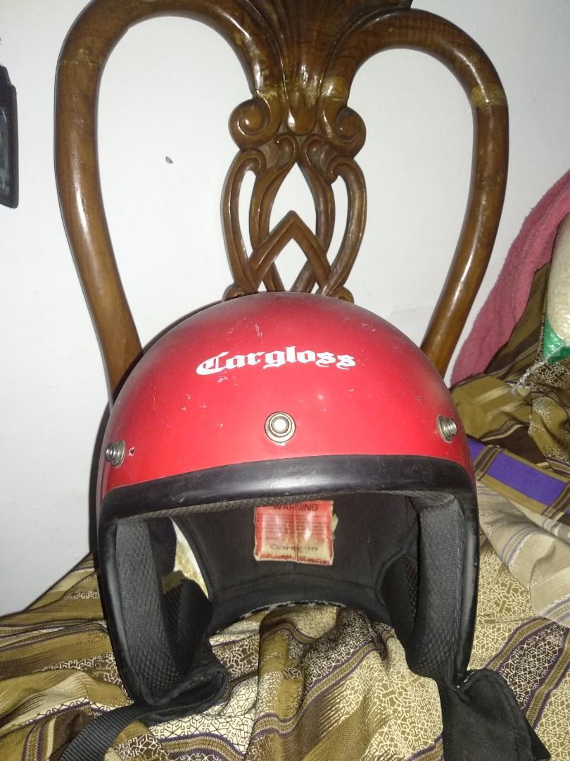 Helm Cargloss merah xl