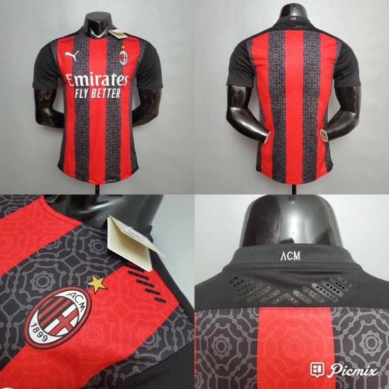 JERSEY BOLA MILAN HOME PLAYER ISSUE 2020/2021 GRADE ORI
