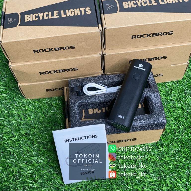 Lampu Depan Sepeda Rocbros 400 Lumens