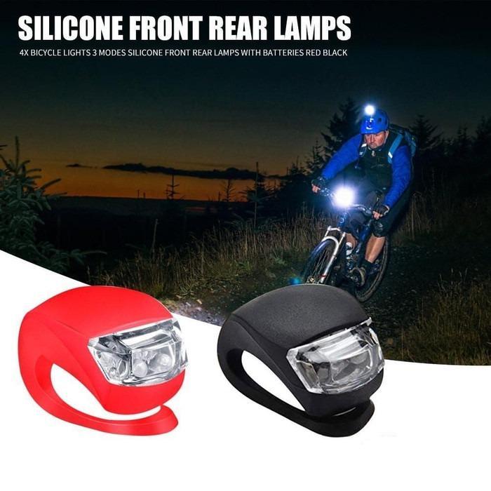 Lampu Sepeda Silicone LED Depan Belakang Lampu Sepeda 3Mode Waterproof