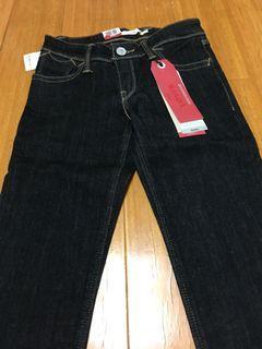levi's 711中腰黑牛仔褲