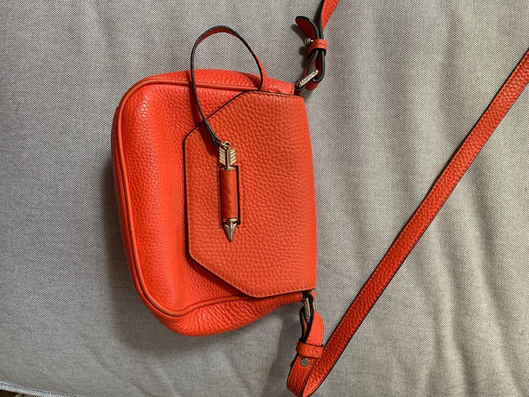 Mackage Novaki Arrow Bag (red orange)