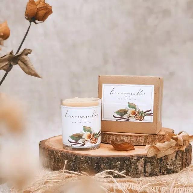 scented candle vanilla+coffe