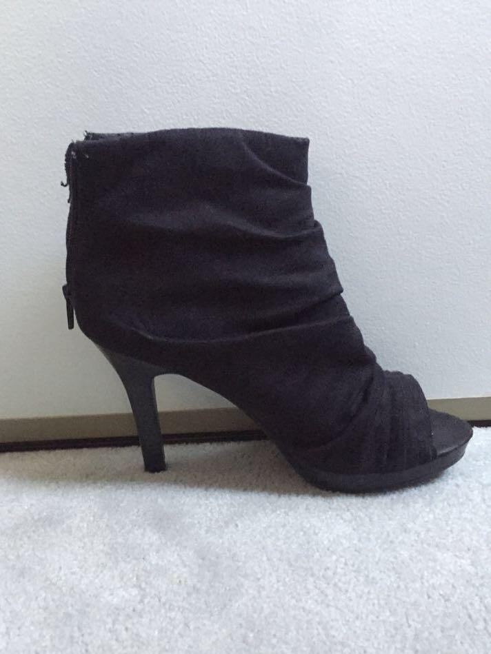 Slouchy/Ruched Booties (8.5/40)