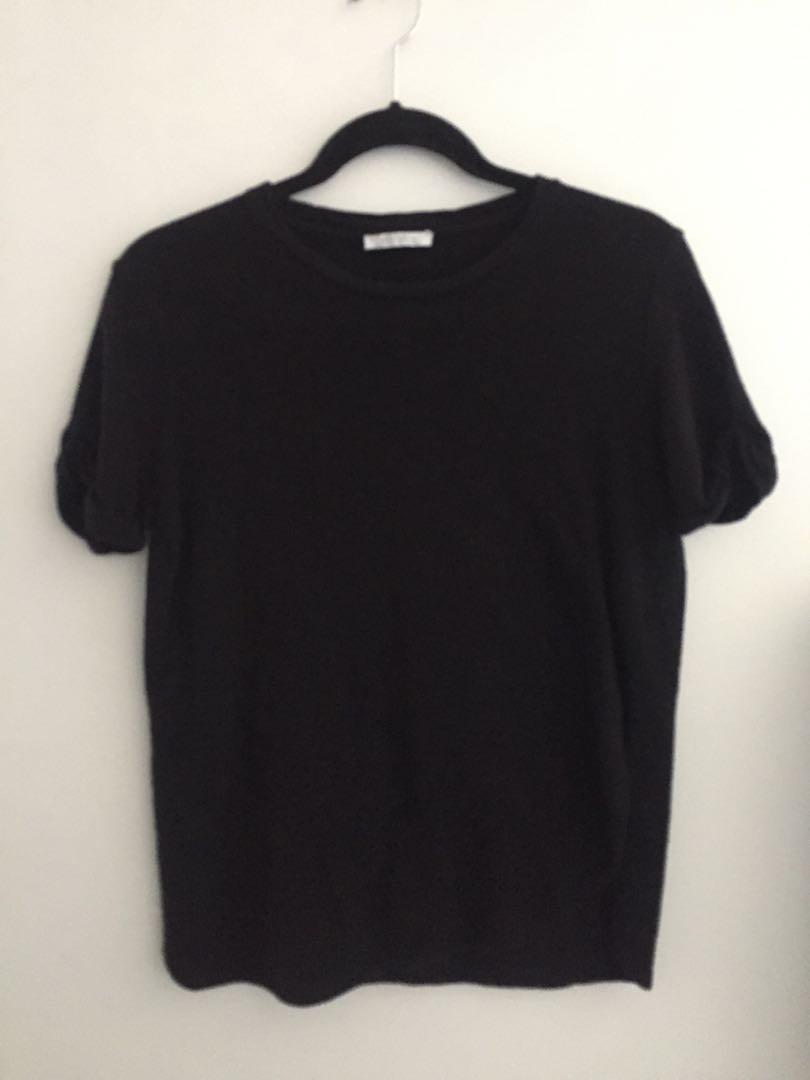 ZARA knit tee - Black (s)