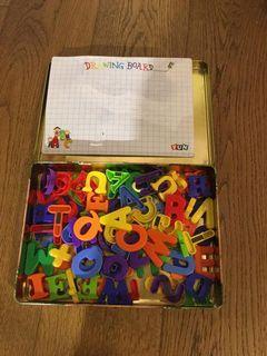 磁石英文字母學習板