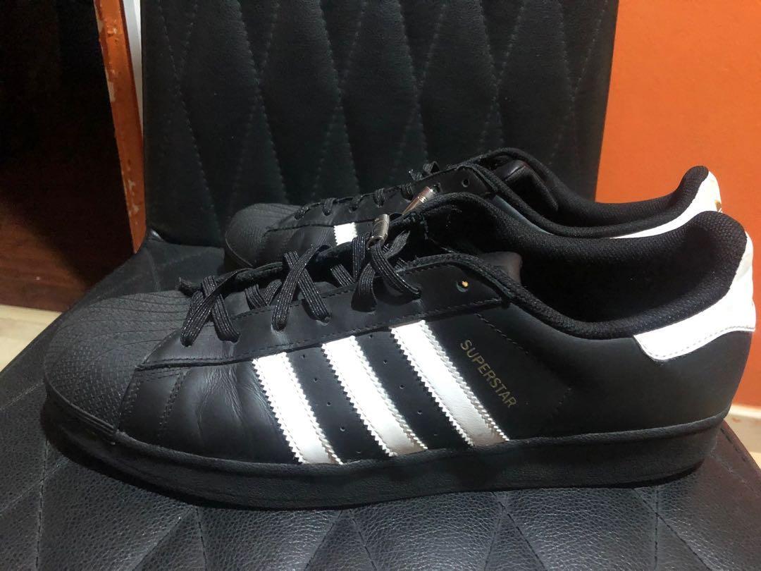 Adidas superstar black with custom