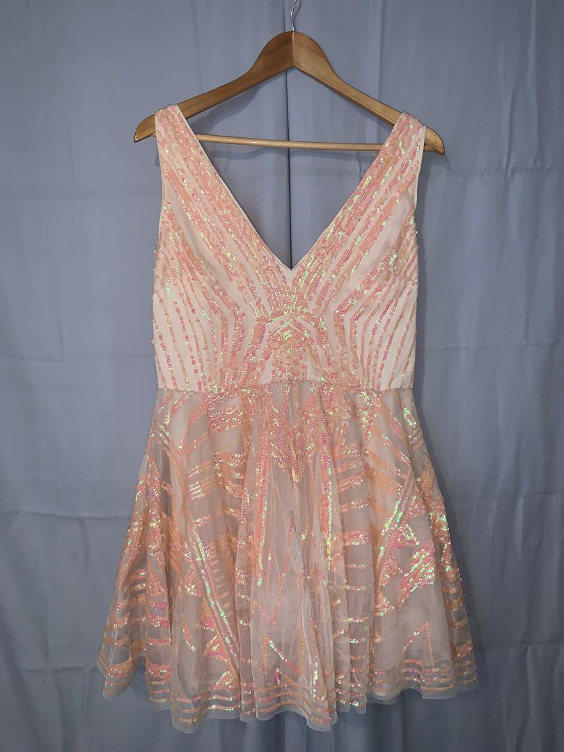 bebe Sequin Dress