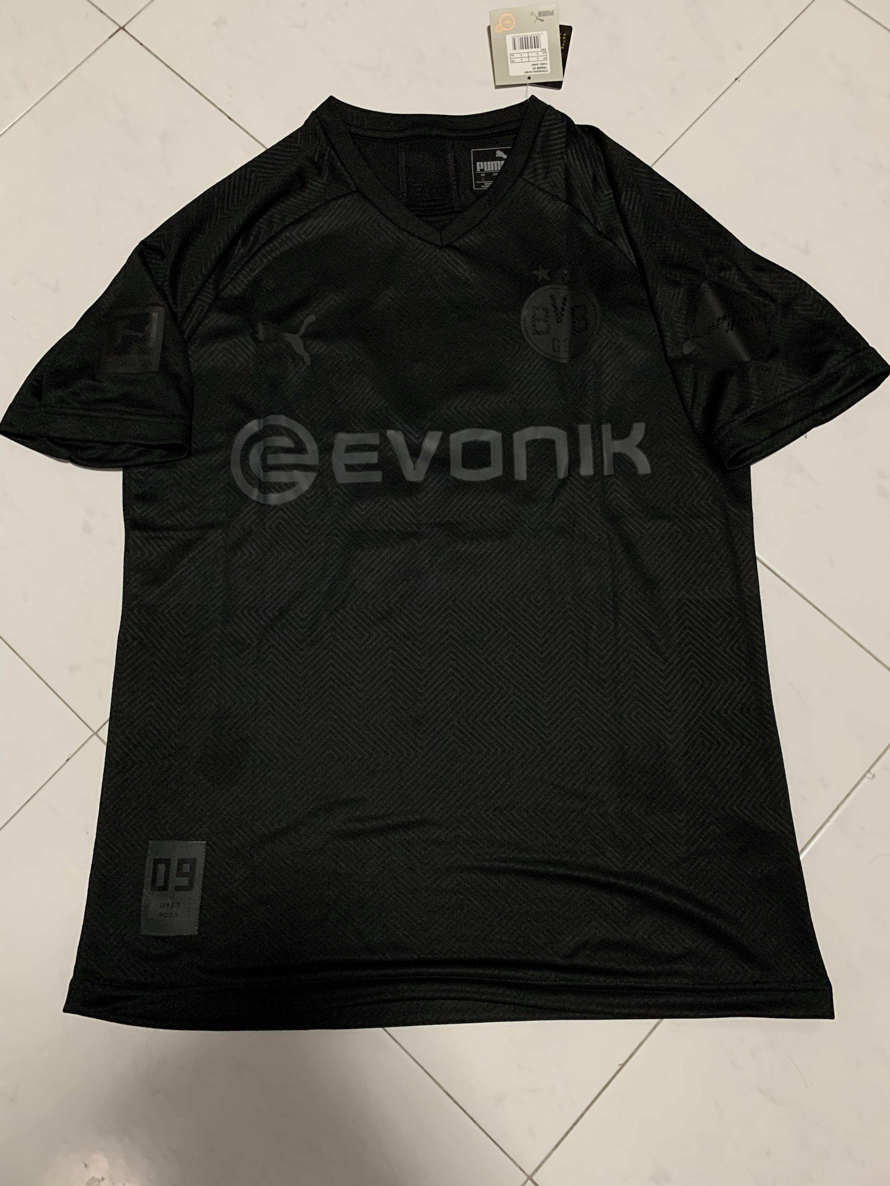 Bnwt Dortmund All Black Jersey Men S Fashion Clothes Tops On Carousell