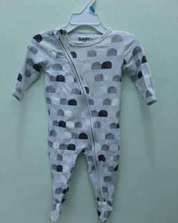 COTTON ON Baby Grey Sleepsuit