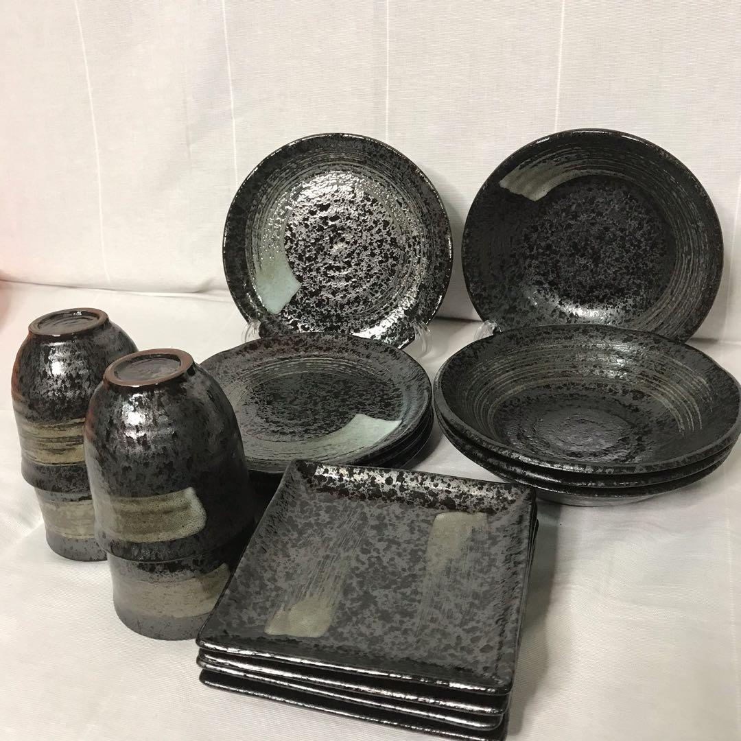 Daiso Plates Bowls and Cups