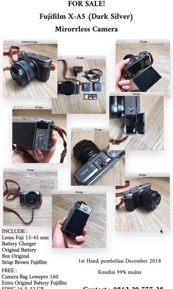 Fujifilm X-A5 (Dark Silver) Mirrorless Camera