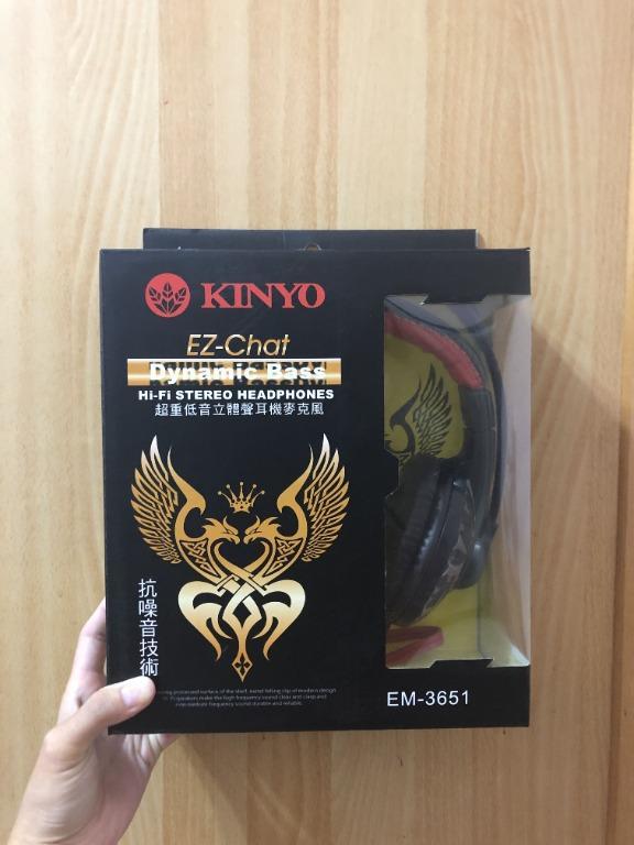 KINYO頭戴式耳機麥克風(附轉接頭)
