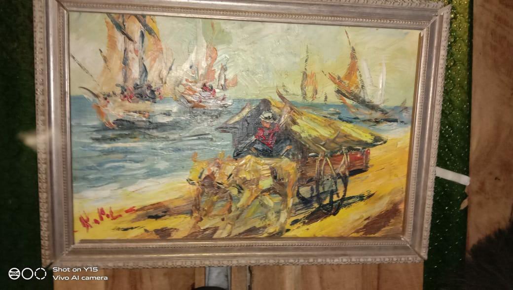 Lukisan koempoel oil on cavas