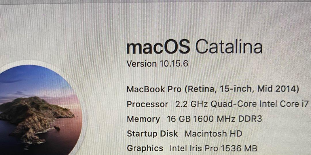 "Macbook Pro Mid 2014 15"""