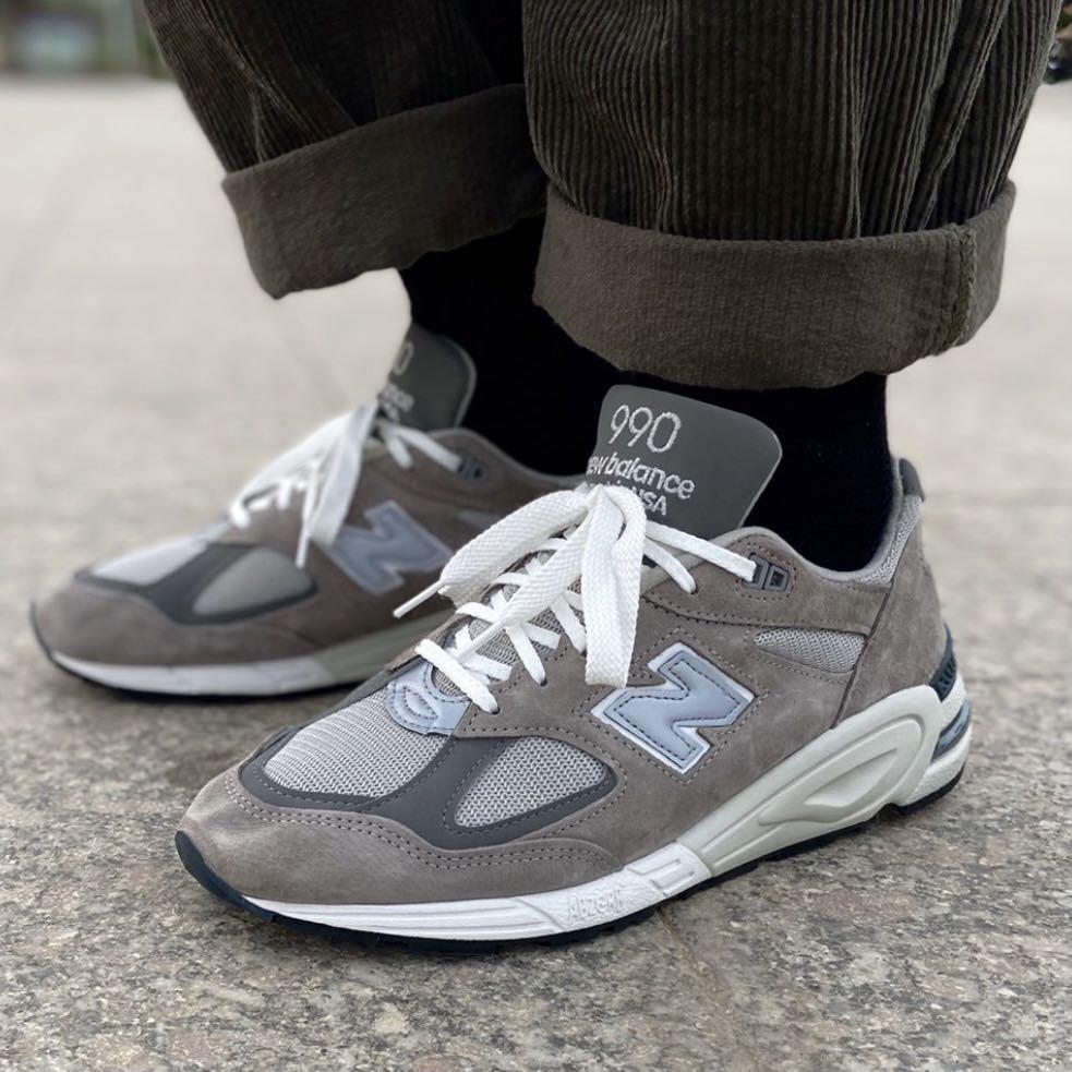 New Balance 990v2 Grey, M990GR2, Men's