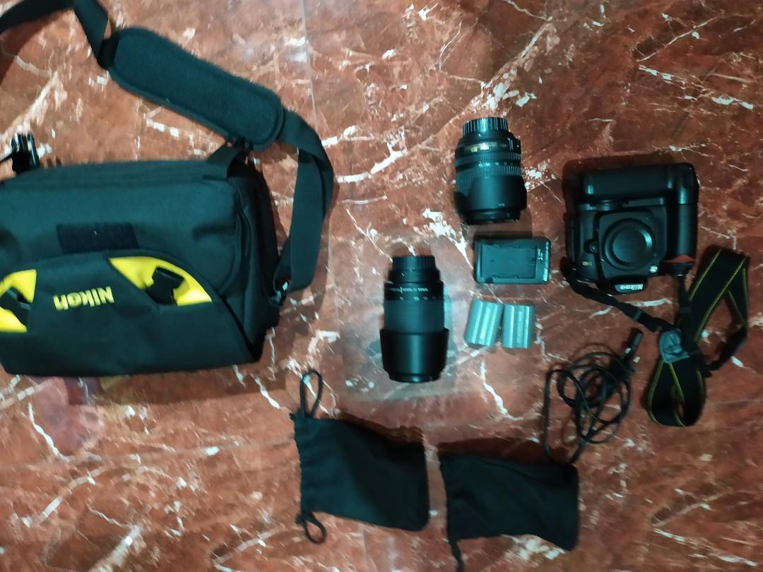 Nikon d90 dpt 2 lensa
