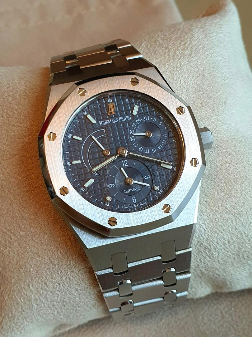 [RARE!] Audemars Piguet AP Royal Oak Dual Time 25730 (Blue Dial 36mm - Full Set - Under Warranty!)